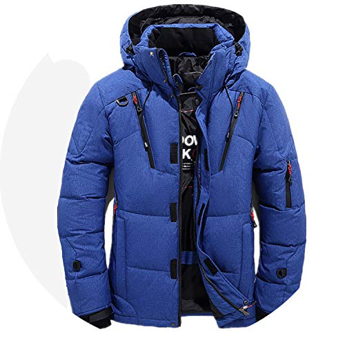 90% White Duck Thick Down Jacket Snow Parkas Male Warm Clothing Winter Down Jacket Outerwear,Blue,L