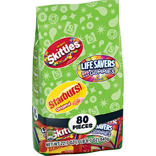 Skittles, Starburst and Lifesavers Fun Size Variety Bag, 80 ct