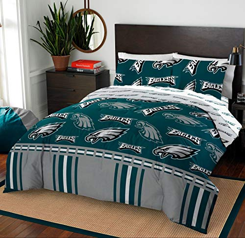 - Philadelphia Eagles Full Comforter & Sheet Set, 5 Piece NFL Bedding, New!