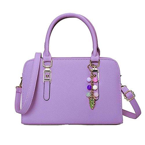 Handbag Women Bag Accessory Shoulder PU Purple Leather With Tote Purple ANDAY Rectangular Lady qZwdax6ZR0