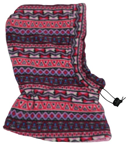 NIce Caps Kids Sherpa Lined Fleece Balaclava with Adjustable Draw Cord