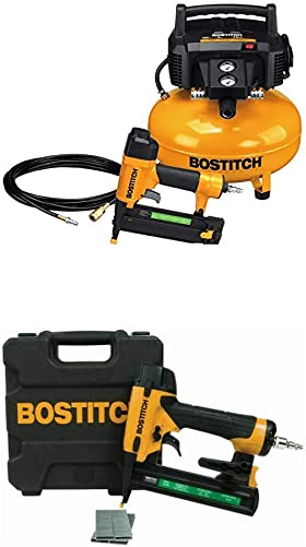 BOSTITCH Compressor Kit with 18GA Brad Nailer and Narrow-Crown Stapler BTFP1KIT SX1838K