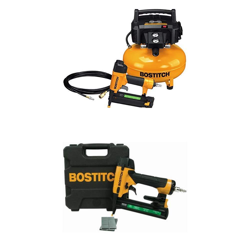 BOSTITCH Compressor Kit with 18GA Brad Nailer and Narrow-Crown Stapler BTFP1KIT SX1838K