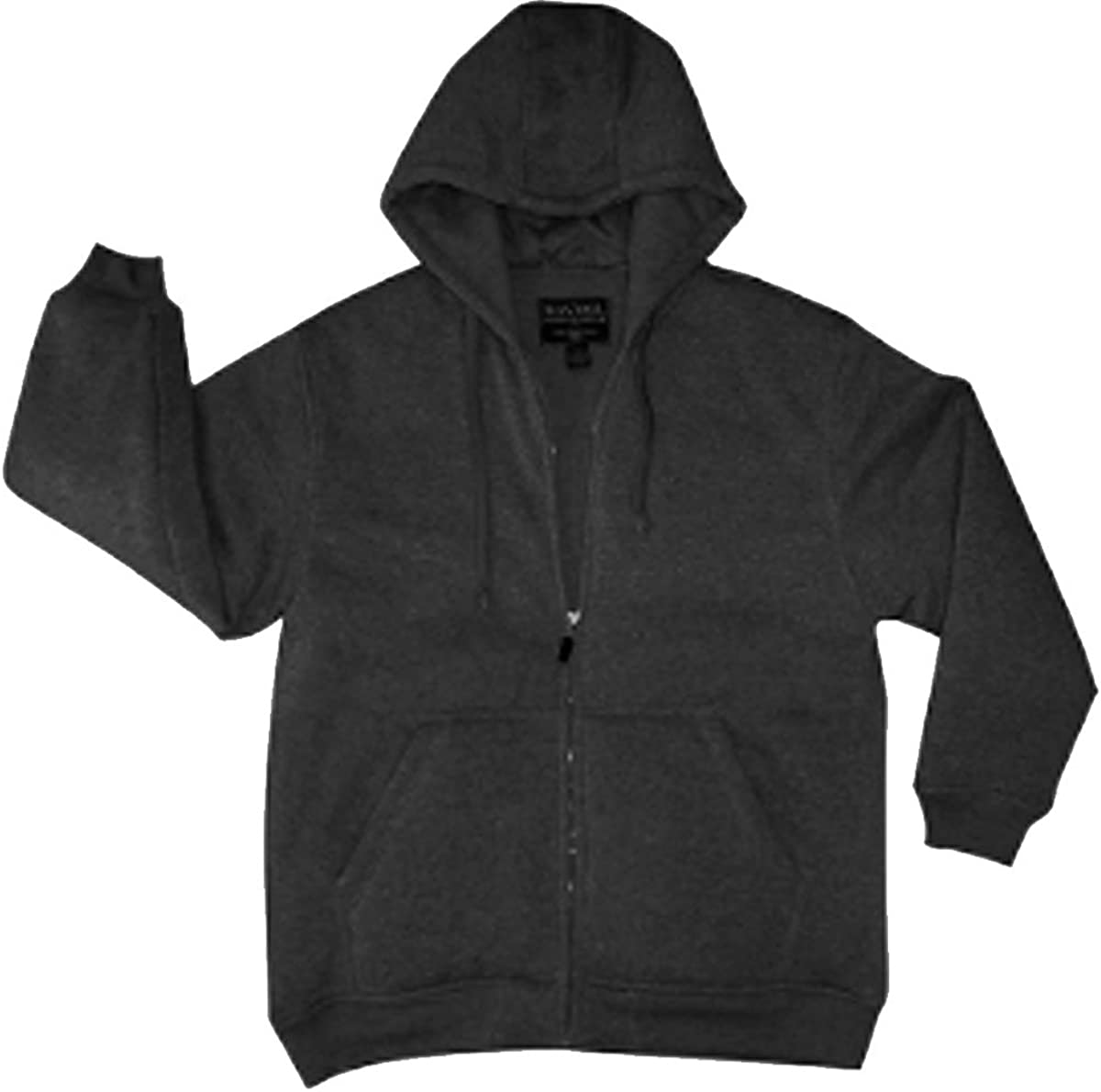 MAXXSEL Mens Matching Color Thermal Lined Full Zip Heavy Duty Hoodie
