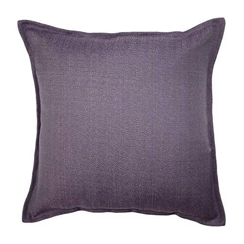 McAlister Textiles Savannah Pillow Cover | Plum Purple Elegant Plain Throw Scatter Sofa Cushion Sham | Dimensions - 16 x 16 Inches