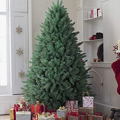 OasisCraft 9 Foot Christmas Tree, Full Premium HingedBlue Spruce Artificial Christmas Tree with Realistic 4668 Thicken Tips, Unlit (First The Artificial Christmas Tree)