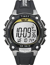 Men's T5E231 Ironman Classic 100 Black/Yellow Resin Strap Watch