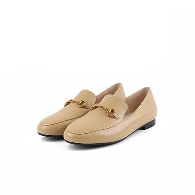 QXH Sandalen von Frauen Flach Mund Quadratischen Kopf Flach Farbe groß, Weiß, 40