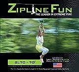 Zip Line Fun ZL70 Zip Line Ride On, 70', Green Trolley