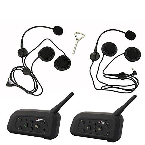 Motorcycle Helmet Bluetooth Interphone 6 1000 Meters Full Duplex V6-1200 Bluetooth Intercom