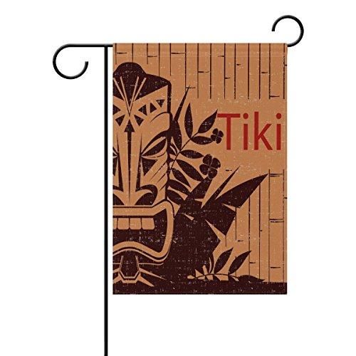 """LEISISI Tribal Background With Tiki Mask Garden flag 28""""X40"""""""