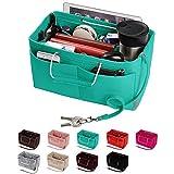 Purse Organizer, Multi-Pocket Felt Handbag Organizer, Purse Insert Organizer with Handles, Medium, Large (Medium, Tiffany Bule)
