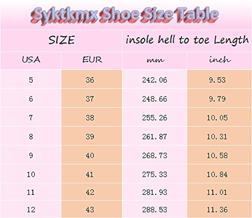 Pictures of Syktkmx Womens Lace Up Platform Wedge Espadrille 2