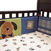 Lambs & Ivy Bow Wow Buddies Crib Bumper - Puppy Dog Sports