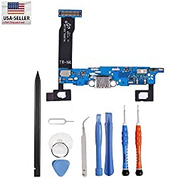 Unifix-charging Port Flex Cable Dock Connector Usb Port Replacement For Samsung Galaxy Note 4 N910a At&t + Premium Tools