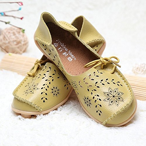 Breathable Out Violet Flat Hollow Fruit Green Up amp;HS Big Soft Lace Leather Shoes Size wXUqqtgrT