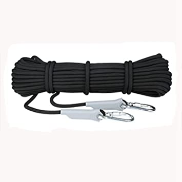 DoMyfit Profesional cuerda de escalada al aire libre senderismo accesorios cuerda 9.5mm diámetro 12KN alta resistencia cuerda de seguridad