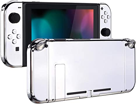 eXtremeRate Carcasa para Nintendo Switch,Funda Completa para Mando Controlador Consola Joy-con de Nintendo Switch Shell de Bricolaje reemplazable con Botón Completo (Plateado): Amazon.es: Electrónica