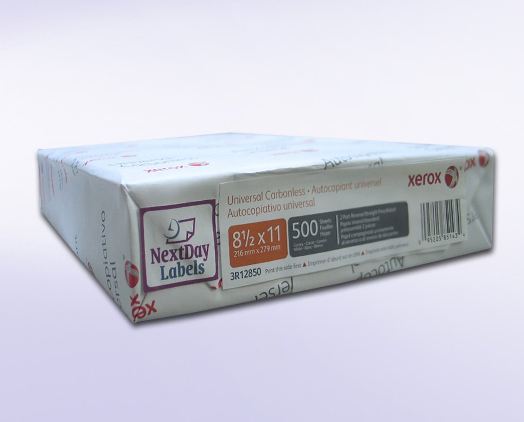 Xerox Premium 2 Part Digital (NCR)White/Yellow Carbonless Paper, Letter Size (8.5 x 11) White/Yellow, Ream of 500 sheets (250 Sets), Item # 3R12850