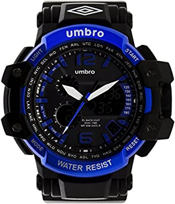 UMBRO UMB-011-2 Unisex ABS Black Band, ABS Bezel 50mm Case Digital MIYOTA AL35 SR626Sw Electronic Precision Movement Water Resistant 5 ATM Sport Watch