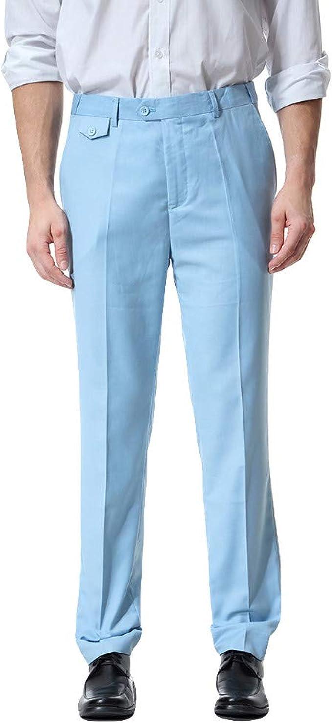 Chettova Hombres Pantalones de Trabajo Casual de Negocios ...