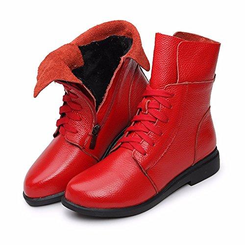 De Grueso De Zapatos Invierno Terciopelo Zapatos Planos Botas Botas Invierno Zapatos d59a7e