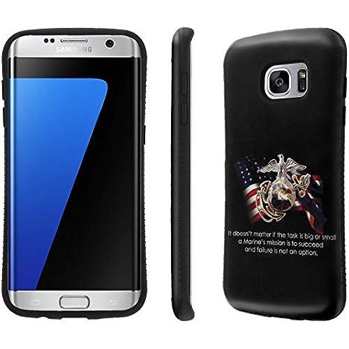 Galaxy S7 Edge / GS7 Edge Case, [NakedShield] [Black Bumper] Heavy Duty Shock Proof Armor Art Phone Case - [USMC Sales