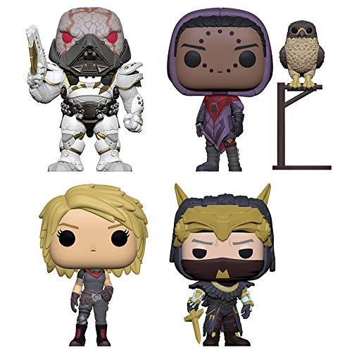 Funko Pop! Games Bundle of 4: Dominus Ghaul, Suraya Hawthorne featured with Hawk, Amanda Holliday and the old Warlock Osiris ()