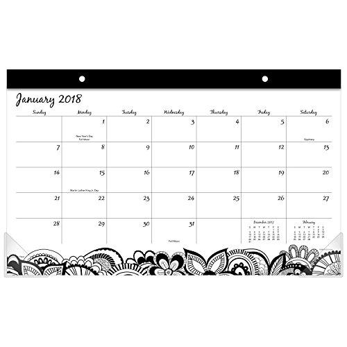 Compact Desk Calendar (Mead Monthly Desk Pad Calendar, January 2018 - December 2018, 17-3/4