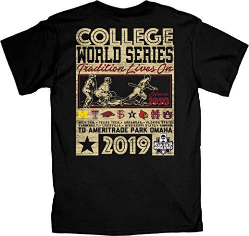 Series Tee College World - Blue 84 2019 NCAA Men's College World Series CWS 8 Team Reminisce Black T-Shirt (M)