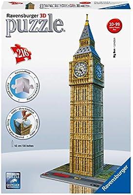 3D Puzzles Puzzle 3D Ravensburger 12554 Big Ben 216 Stücke ab 10 Jahre