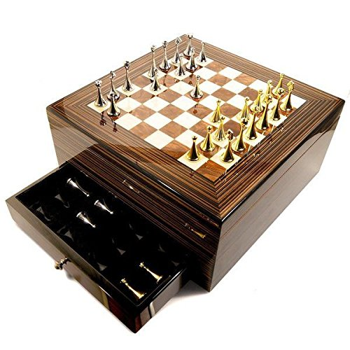Maestro 75-cigar Humidor with Chess Board Top - Maintain The Right Humidity For Your Cigars And Watch The Hygrometer Rise To An Optimal 70 ()
