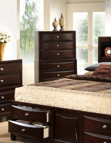 Roundhill Furniture Ankara Wood Assembled Chest, Espresso