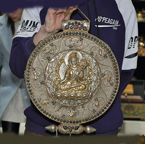 (SIYAO Wedding Decoration Tibetan Buddhism Silver Filigree Inlay gem Tara Kwuan-yin Shrines Wall)