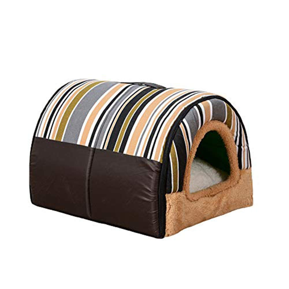 A XL2 in 1 Pet Dog Cat House and Sofa with Foldable Washable Removable Soft Warm Nest Cave Bed Removable Cushion for Dog and Cat