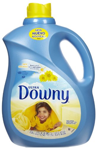 Downy Ultra Sun Blossom Liquid Fabric Softener 120 Loads, 103-Ounce Bottle - Downy Fabric Softener Liquid