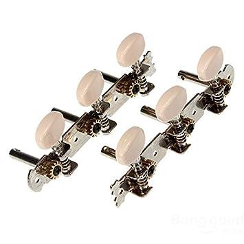 2 de guitarra clásica teclas de ajuste del sintonizador clavijas ...