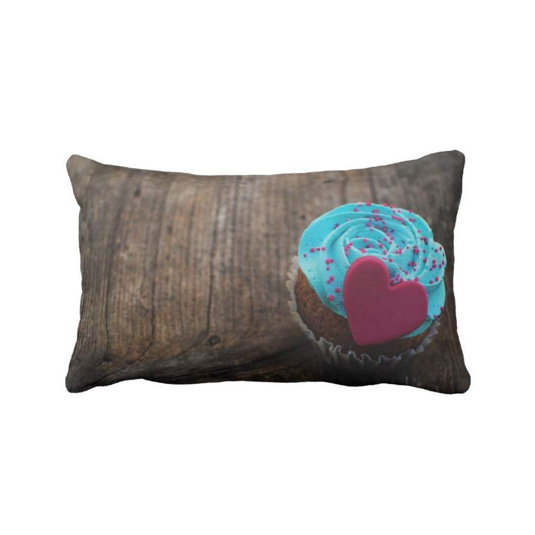 AoLian CYW Love Dessert On Wood Pillow case 13X21 in