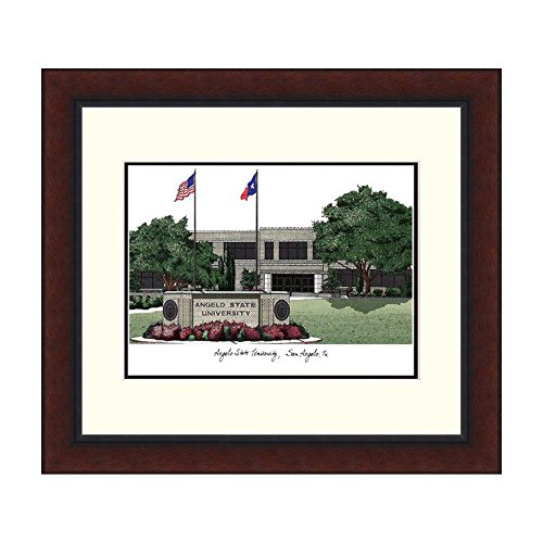 Campus Images Angelo State University Campus Images Lithograph Print Frame