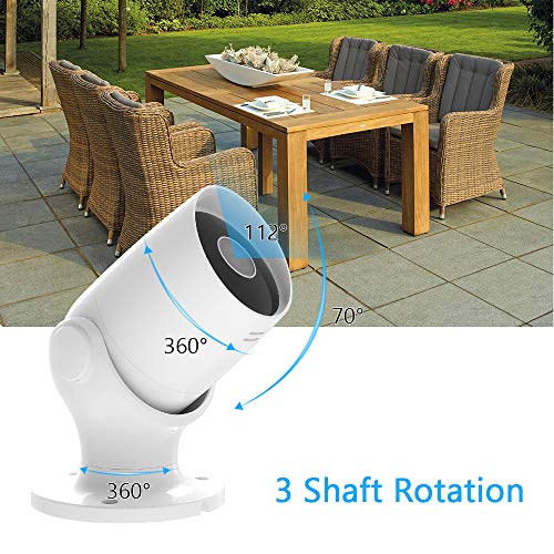 Akaso Outdoor Security Camera 1080p Work With Alexa Google