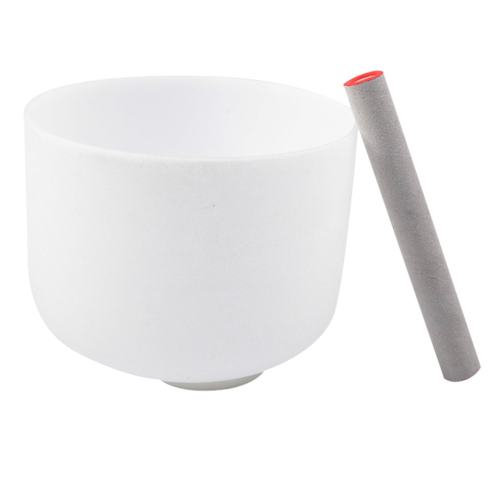 TNZMART 水晶碗シンギングボウル スエードマレット和橡胶带戒指冥想治疗 (9インチ) B07F3VSQ95 9インチ
