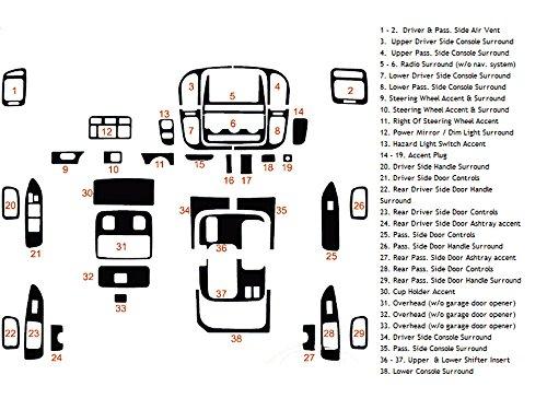 Kits Dash Toyota Wood (Rdash Dash Kit Decal Trim for Toyota Land Cruiser 1998-2002 - Wood Grain (Burlwood Honey))
