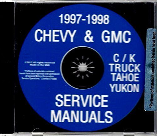 1997 And 1998 CHEVY & GMC TRUCK And PICKUP FACTORY REPAIR SHOP & SERVICE MANUAL CD - INCLUDES C/K MODELS, BLAZER, TAHOE, YUKON - CHEVROLET