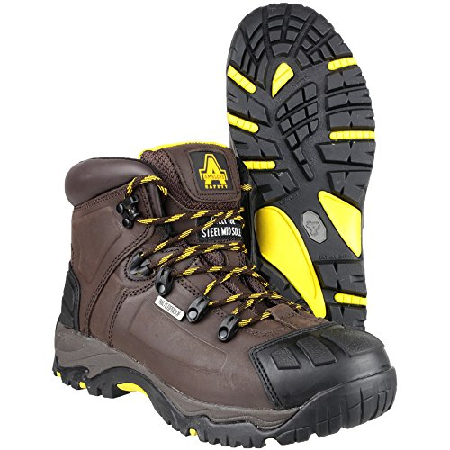 Amblers Safety Mens FS39 Leather Waterproof Safety Boots Brown Brown