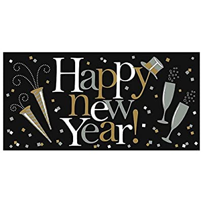 "Happy New Year"" Plastic Party Decoration Banner 