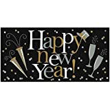 "Amscan Grand New Year Party Horizontal Banner (Pack Of 1), Gold/Silver/Black, 33 1/2"" x 65""/Large"