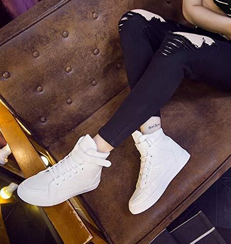 Deporte Exteriores Plano Con Ligero Mujer Para Cordón Transpirable Casuales Zapatillas Altas Zapatos Color De Sólido Ysfu Amortiguación wzqvxEpaZ