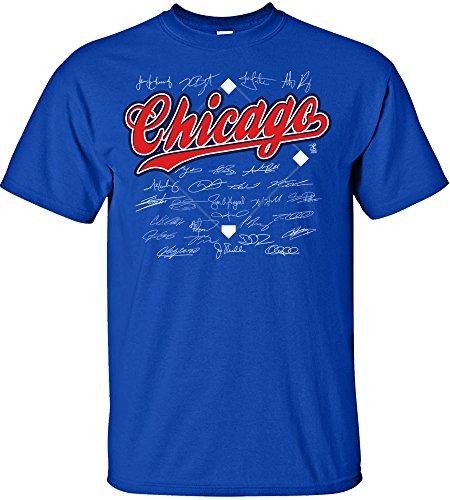 MLB Chicago Cubs Team Signed T-Shirt, Medium, Royal