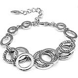 Shining Diva Fashion Jewellery 18k Rose Gold Crystal Stylish Bracelet Gift for Girls Women