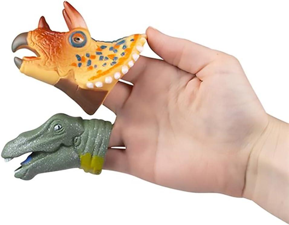 3 Inch Large Dinosaur Finger Puppets 6-Pack